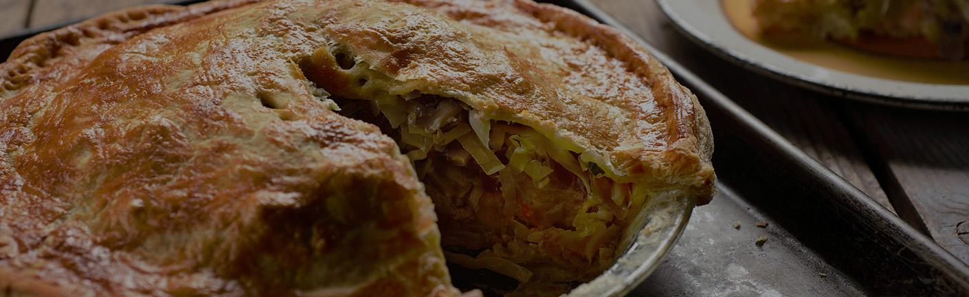 Пирог с иваси и капустой