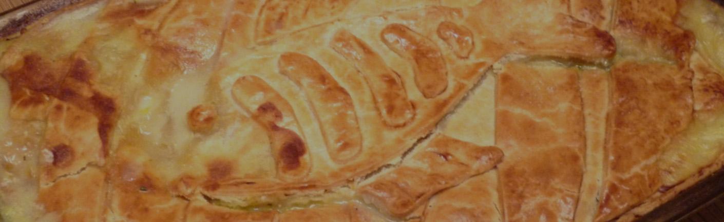 Пирог с иваси и картошкой